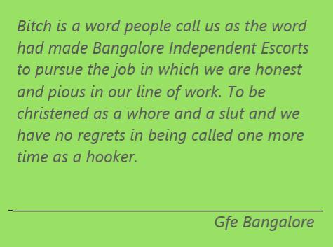 Bangalore Independent Escorts
