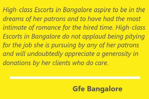 High-class Escorts in Bangalore